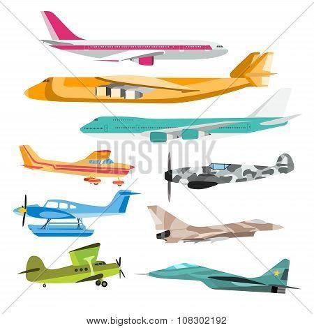 Civil aviation travel passanger air plane vector illustration