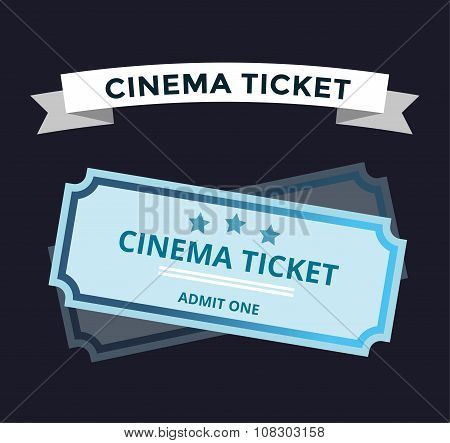 Cinema vector tickets on background