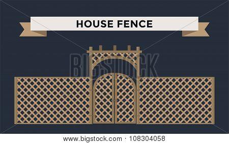 Metallic fence isolated on night background