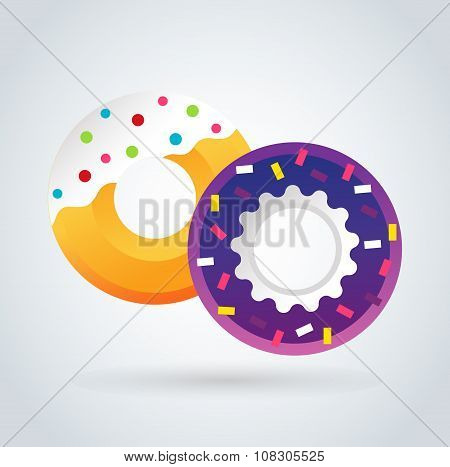 Donut icons isolated.