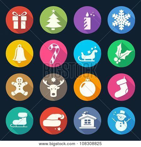 Christmas Flat Icons Set 2