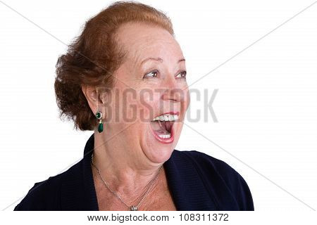 Senior Woman Showing A Surprised Expression