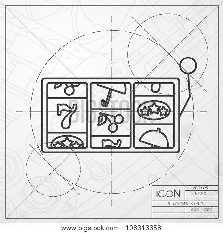 Vector slot icon