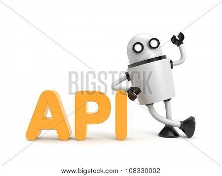 Robot with API word