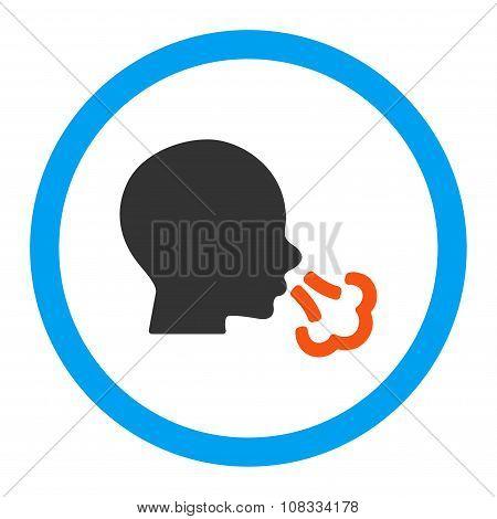 Sneezing Rounded Glyph Icon