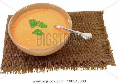 Cream Soup From Orange Cauliflower