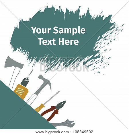 Advertising Card With Different Tools