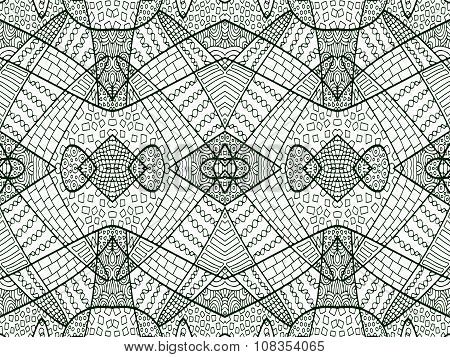 Zentangle Abstract Background Black White 4