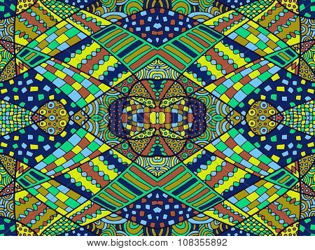 Zentangle Abstract Background Colorful 5