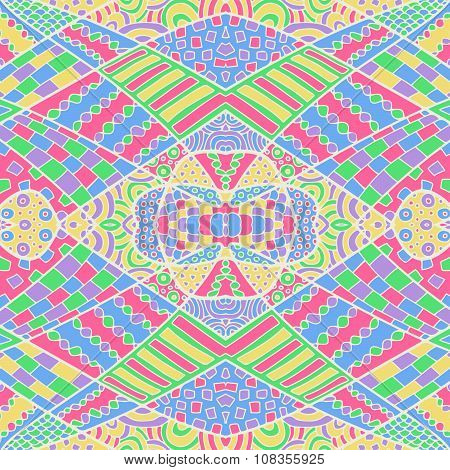 Zentangle Abstract Background Colorful 8