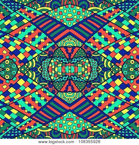 Zentangle Abstract Background Colorful 9