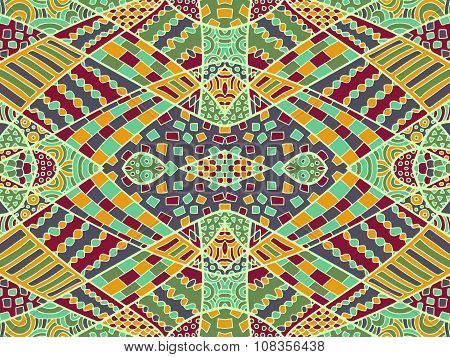 Zentangle Ethnic Background Colorful 3