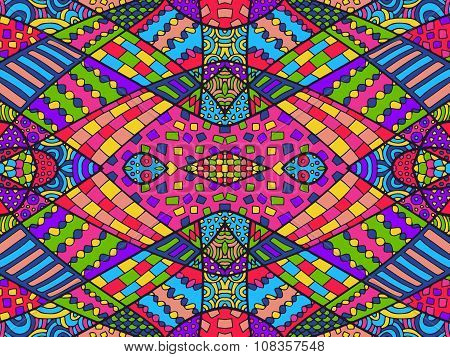 Zentangle Ethnic Background Colorful 6