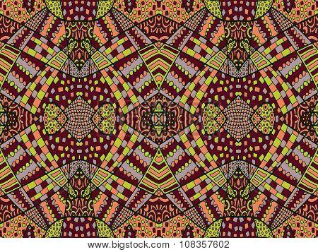Zentangle Ornament Retro Background 4