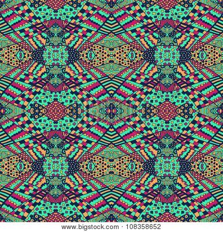 Zentangle Unusual Ornament Background 3