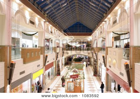 Seasonally Decorated Shopping Mall