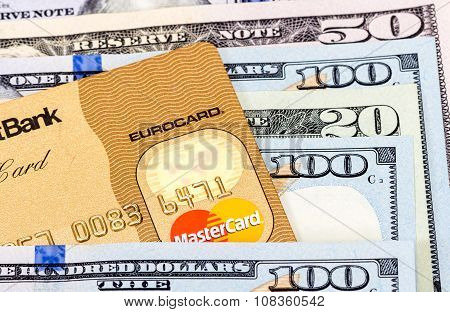 Mastercard Credit Card With Us Dollar Bills