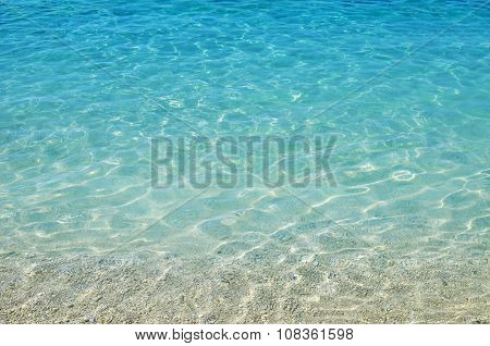 Blue sea water in front of the beach