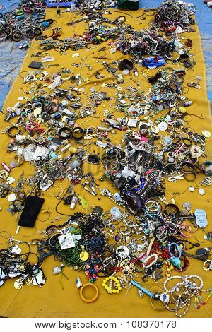 Various Imitation Jewelry At Flea Market