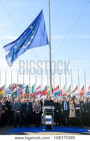Minute Of Silence In Tribute To The Victims Of Paris, Council Of Europe