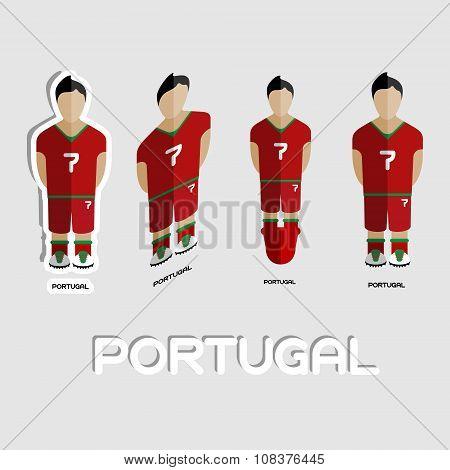 Portugal Soccer Team Sportswear Template
