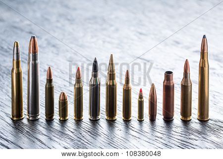 Number of large-caliber ammunition