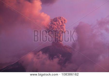 Tungurahua Volcano Smoldering