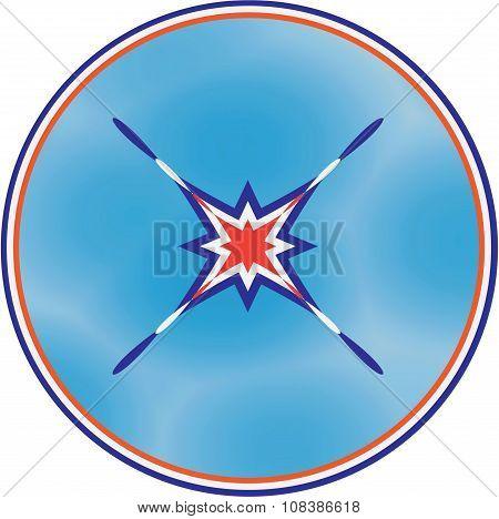 The Peace Symbol In Tricolor