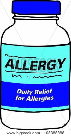 Allergy Medication for when you Get Itchy, Watery Eyes, Sneeze, and Cough from Seasonal Allergies. The Capsules, Gel Tabs, or Tablets will Make Feel Healthy and Strong. The Drug Relieves Alergies! poster