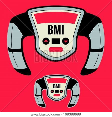 BMI Machine that Measures your Fatness or Pudge Factor, including Chunky Large Obesity Level