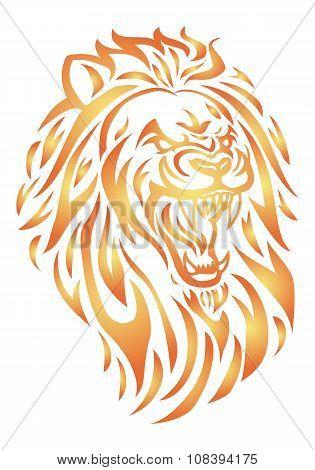Fire Lion Head