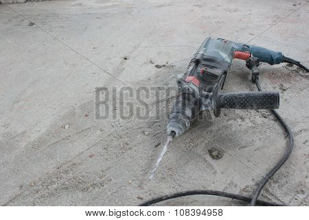 Driller with tools