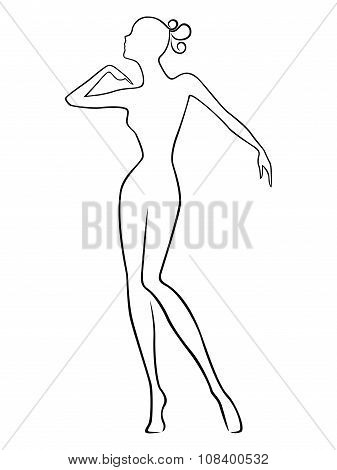 Abstract Slender Female
