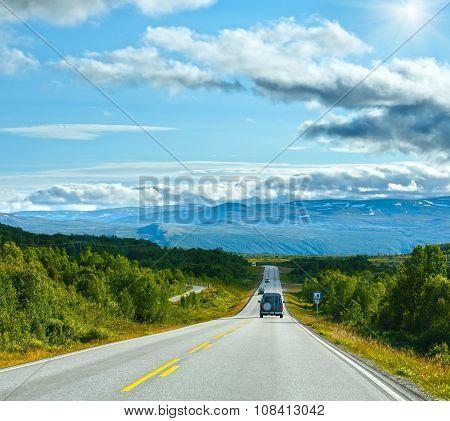 Norwegian Summer Road (near Dombas, Norge)