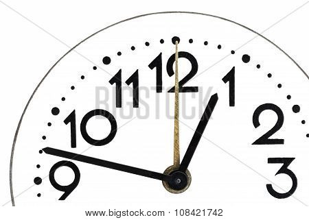 Close up of a simple clock