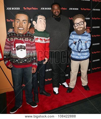 NEW YORK-NOV 16: Actor Grizz Chapman (2nd R) attends the New York Red Carpet screening of Columbia Pictures'