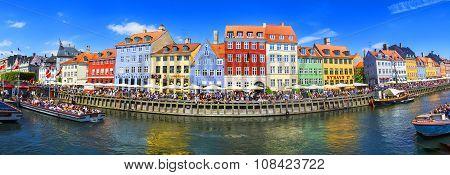Nyhavn district is one of the most famous landmark in Copenhagen.