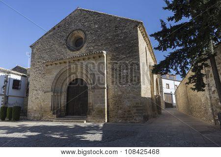Romanesque Church Of Santa Cruz, Baeza, Province Of Jaen, Andalusia, Spain