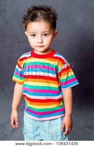 boy fashion portrait. Child model.