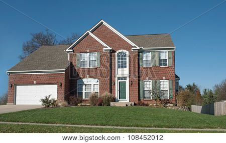 American Red Brick House