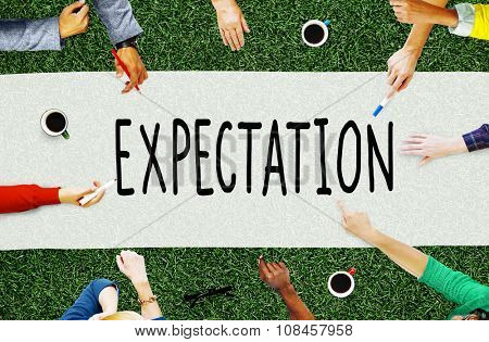 Expectation Prediction Hope Strategy Planning Concept poster