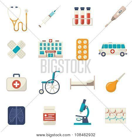 Medical Icons Flat Set