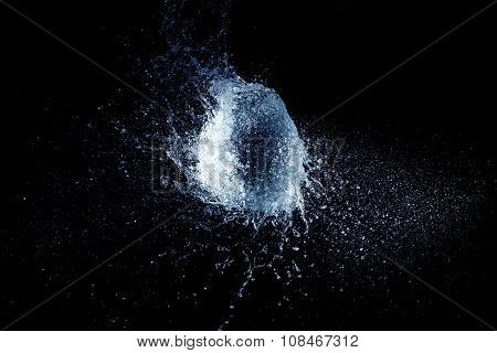 sea shell shaped water water explosion