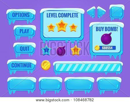 Winter game interface