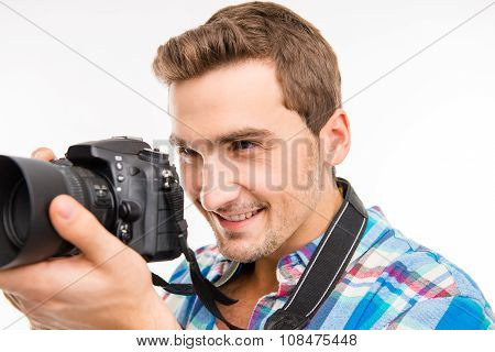 Young Photographer Taking A Photo