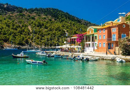 Assos Village On The Island Of Kefalonia In Greece