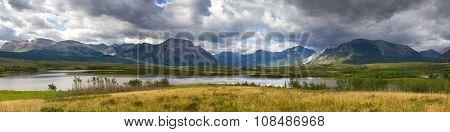 Panorama Of The Waterton National Park