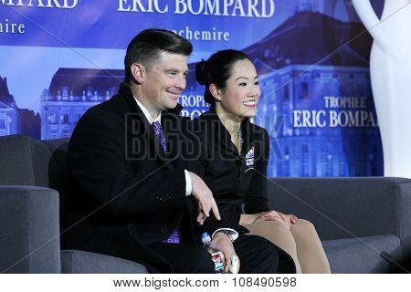 Angela Wang (usa) (r) And Her Coach