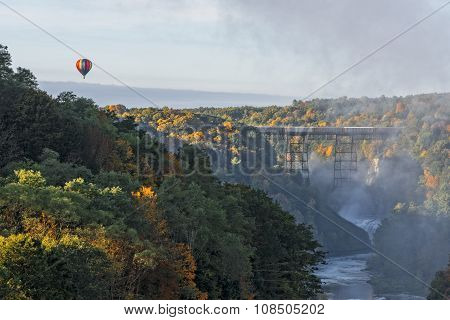 Sunrise From Inspiration Point At Letchworth State Park
