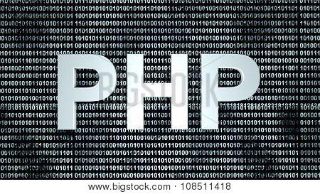 Php Binary Code Background